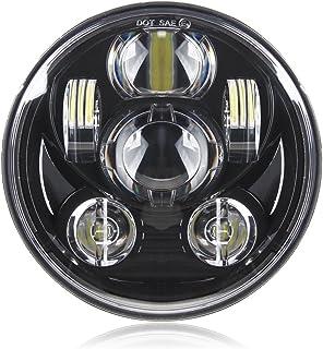 موتور سیکلت 5-3 / 4 5.75 چراغ چراغ برای هارلی دیویدسون 883، sportster، سه گانه، سوار کم، سرپوشیده عرض چراغ پروژکتور رانندگی نور