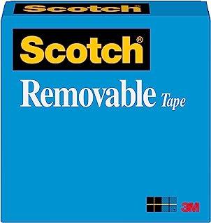 شريط سكوتش قابل للازالة من العلامة التجارية سكوتش، يلتصق بامان وتتم ازالته بشكل نظيف، امن للصور ومصنوع للاستخدام المنزلي و...
