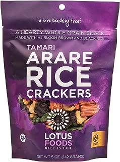 Lotus Foods Gourmet Gluten Free Arare Rice Crackers, Tamari/Shoyu, 8 Count