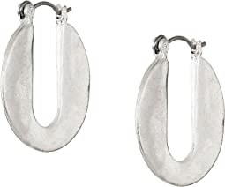Small Cut Out Hoop Earrings