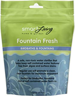 Smart Solar 80910R01 Fountain Fresh Pond Treatment, Safe And Non-Toxic Water Clarifier Perfect For Use in Fountains, Waterfalls And Self-Contained Water Features