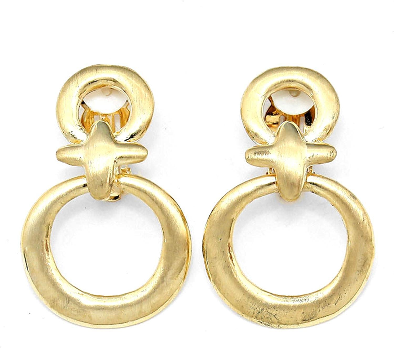 Metal Clip on Earrings / AZERCO412-GLD