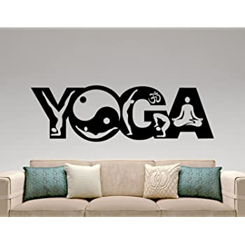 Buy Kaahego Yoga Wall Sticker Vinyl Decal Home Interior Design Yoga Studio Decor Bedroom Wall Decal Murals Logo Design Waterproof Stickers Online At Low Prices In India Amazon In
