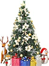 Artificial Christmas Tree Christmas Decorations Flocked Snow Environmentally PVC (Size : 1.2m-4ft)