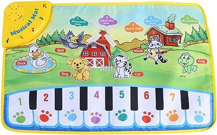 Fdit Tappeto Bambino Musica Bambini ramper Piano Tappeto Multifunzionale Bambino Musica Copertina Motivo con Animali Regalo 60* 39cm