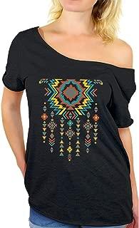 Southwest Indian Necklace Off Shoulder Tops T-Shirt