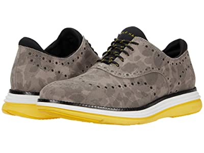 Cole Haan Original Grand Ultra Wing Ox (Gray Camo/Black/Optic White/Dandelion) Men