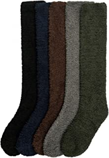 Ladies Colorful Fleece/Plush Soft Knee High Socks Assorted 6 Pack