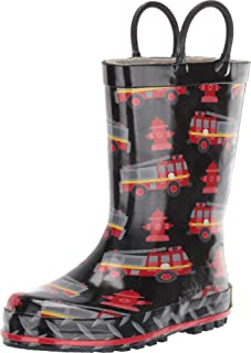 Western Chief Kids Printed Rain Boot with Easy on Handles