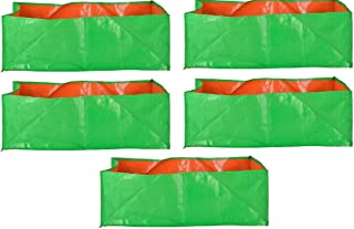 "YUVAGREEN Terrace Gardening Leafy Vegetable Green Grow Bag (24"" X 12 "" X 9"" ) - (Pack Of 5 )"