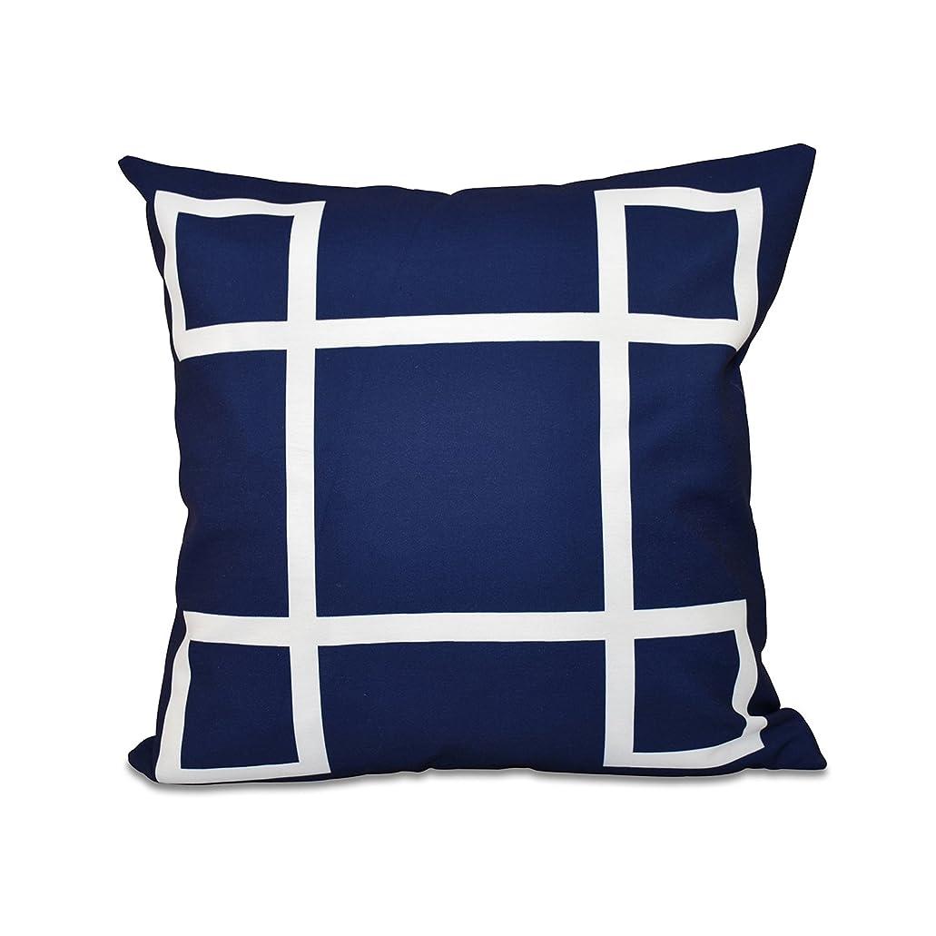 基礎悪因子ミュートE by design O5PG-N55-Navy-16 幾何学的装飾ネイビーアウトドア枕