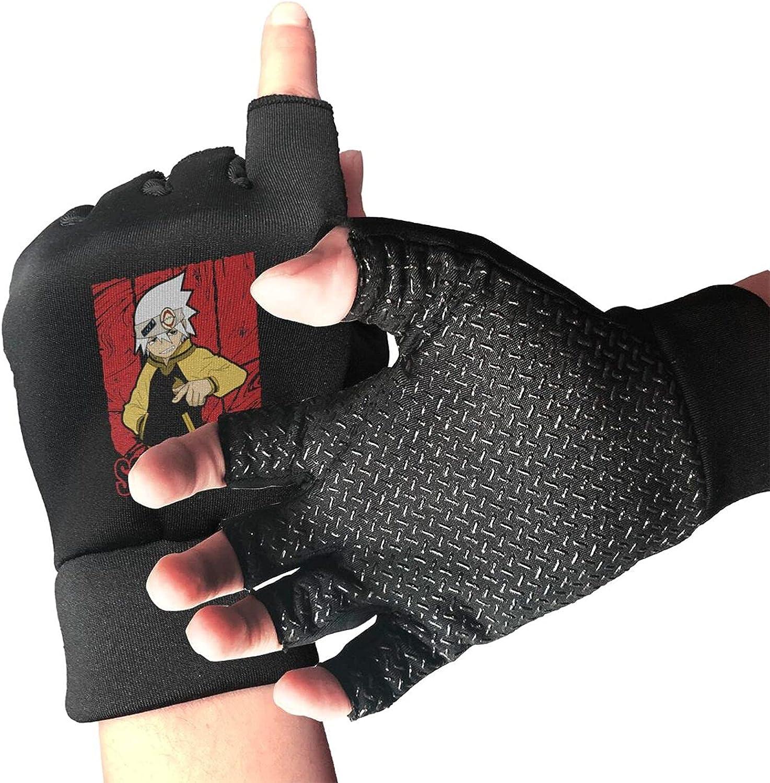Soul Eater Soul Eater Evans Knitted Mittens Gloves Stretchy Warmer Fingerless Non Slip Gloves For Unisex