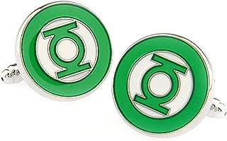 Men's Wedding Shirt Surper Hero Cufflinks (Green Lantern)