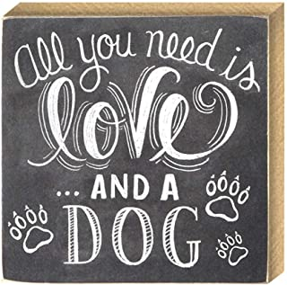 All You Need is Love and A Dog MDF Wood Plank Wall Sign Plaque Decor Craft