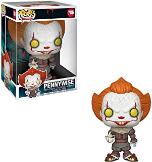 Funko Pennywise Pop Movies Vinyl Figure & 1 Classic Horror Movies Trading Card Bundle (40593)