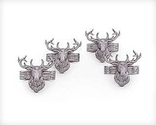 Arthur Court Aluminum Napkin Rings with Elk Head Rustic table 3
