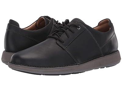 Clarks Un Larvik Lace (Black Oily Leather) Men