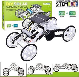 Kids DIY Car Toys Stem 4wd Motor Climbing Vehicles Electric Solar Science Mechanical Construction Truck Toy Kit Building B...