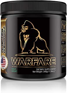 Guerrilla WARFARE Pre Workout Thermogenic Fat Burner Powder, Energy, 40 Servings, Weight Loss (Sour Grunt)