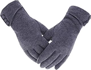 Elonglin Women's Gloves Touch Screen - Winter Gloves Fleece Lined Touchscreen Mittens Windproof Knitted for Ladies Girls Outdoor