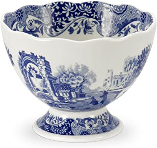 Blue Italian Footed Serving Bowl