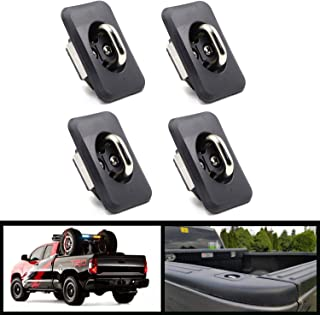 4pcs Truck Bed Tie Downs Pickup Anchors Side Wall Hook 1000 Pound Compatible with Toyota Tundra Ext & Reg Cab 2000-2013