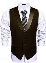 COOFANDY Men's Business Suit Vest Slim Fit Casual Skinny Dress Waistcoat for Graduation Party Wedding