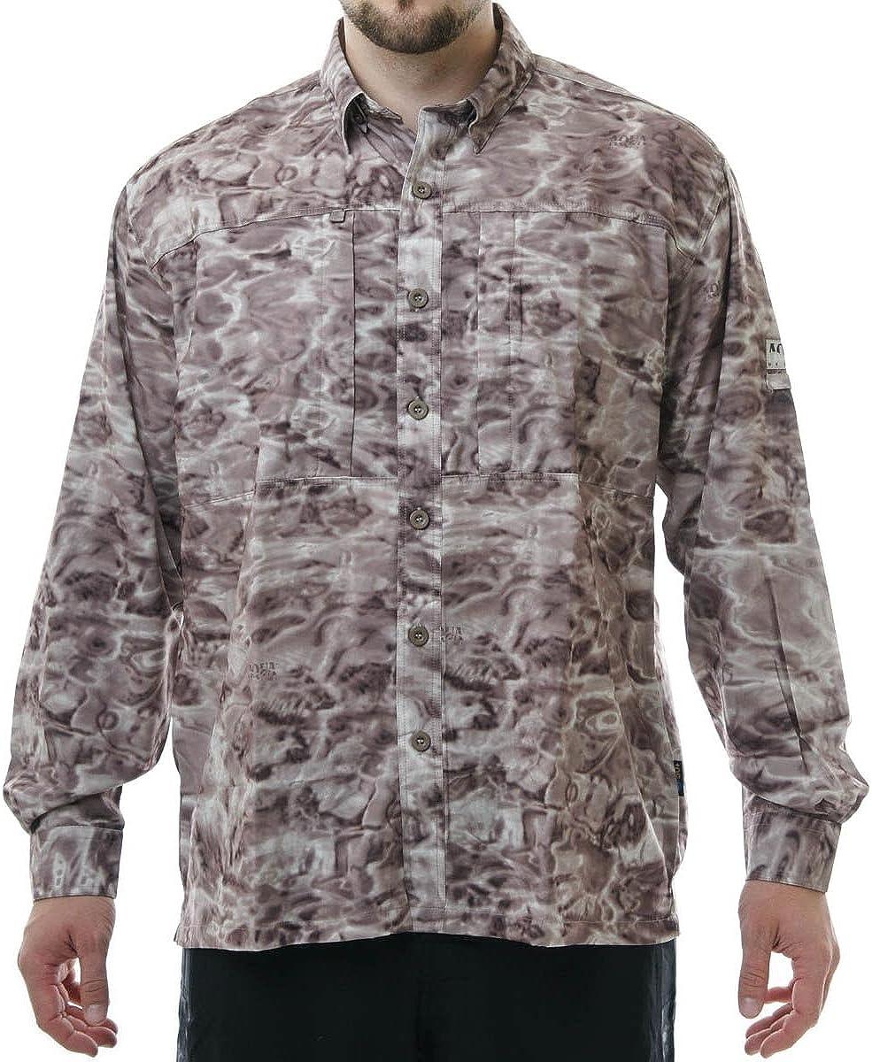 Aqua Design Fishing Shirts Men: UPF Camo Zip Long Sleeve 50+ Poc quality Free Shipping New assurance
