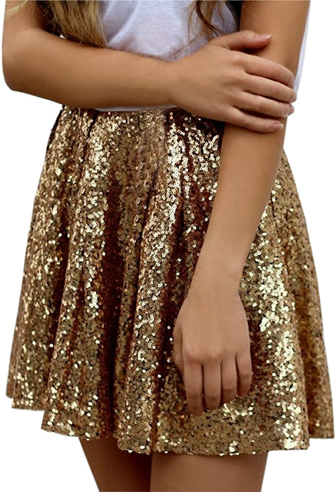 Lisong Women's Mini Sequin Party Skirt
