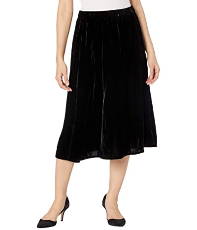 Eileen Fisher A-Line Skirt (Black) Women