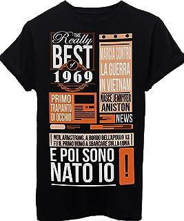 8f3310c0415524 iMage T-Shirt Compleanno Idea Regalo I Migliori Eventi del 1969 Anno di  Nascita Birthday