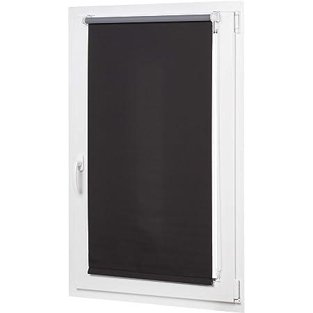 AmazonBasics Store enrouleur occultant avec revêtement de couleur assortie 56 x 150 cm, Noir