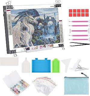 A4 LED Light Pad for Diamond Painting, ELICE LED Light Box Strudy Stepless Adjustable Brightness LED Light Board for Diamo...