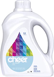 Cheer 2x Ultra Liquid Free & Gentle 64 Loads 100 Fl Oz (Pack of 4)