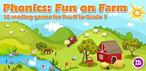 『Phonics: Fun on Farm - Reading, Spelling and Tracing Educational Program • Kids Learning Games Teaching Letter Sounds, Sight Words, ABC Flash Cards Quiz & Alphabet for Preschool, Toddler, Kindergarten and 1st Grade Explorers by Abby Monkey®』の2枚目の画像