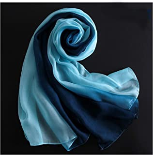 Silk Gradient Scarf, Women Decorative Scarves, Beach Towels,Perfect Match (Color : 11, Size : 180 * 70)