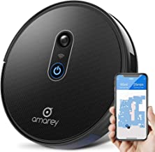 Robot Vacuum - 1400Pa Strong Suction, Ultra-Thin, Auto-Cleaning, Self-Charging Robotic Vacuum Cleaner with Anti-Drop&Collision Sensors, works on Hard Floors&Carpets, Cleans Human&Pet Hair, APP Control