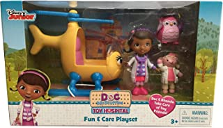 Disney Toy Hospital Vehicle Set - DOC and RHONDA - Place Doc and Lambie in Rhonda's Pilot Seat and Spin Rhonda's Propeller as you Soar Away to Save the Toys of McStuffinsville!