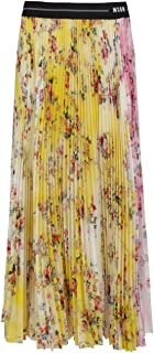 MSGM Luxury Fashion Donna 3041MDD30PY21715212 Giallo Poliestere Gonna | Ss21