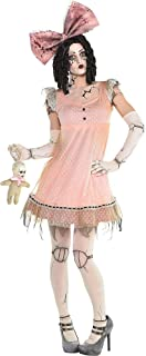 Pink Creepy Doll Halloween Dress for Women, One Size