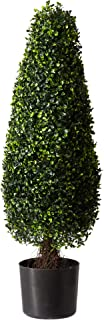 Nearly Natural 5412 3ft. Boxwood Tower Topiary UV Resistant (Indoor/Outdoor)