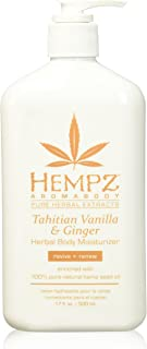 Hempz Tahitian Vanilla & Ginger Herbal Body Moisturizer, 17 Ounce