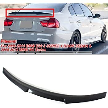Cuztom Tuning for 2007-2012 BMW E93 3 Series /& E93 M3 Convertible HIGH Kick Performance Style Carbon Fiber Trunk Spoiler Wing