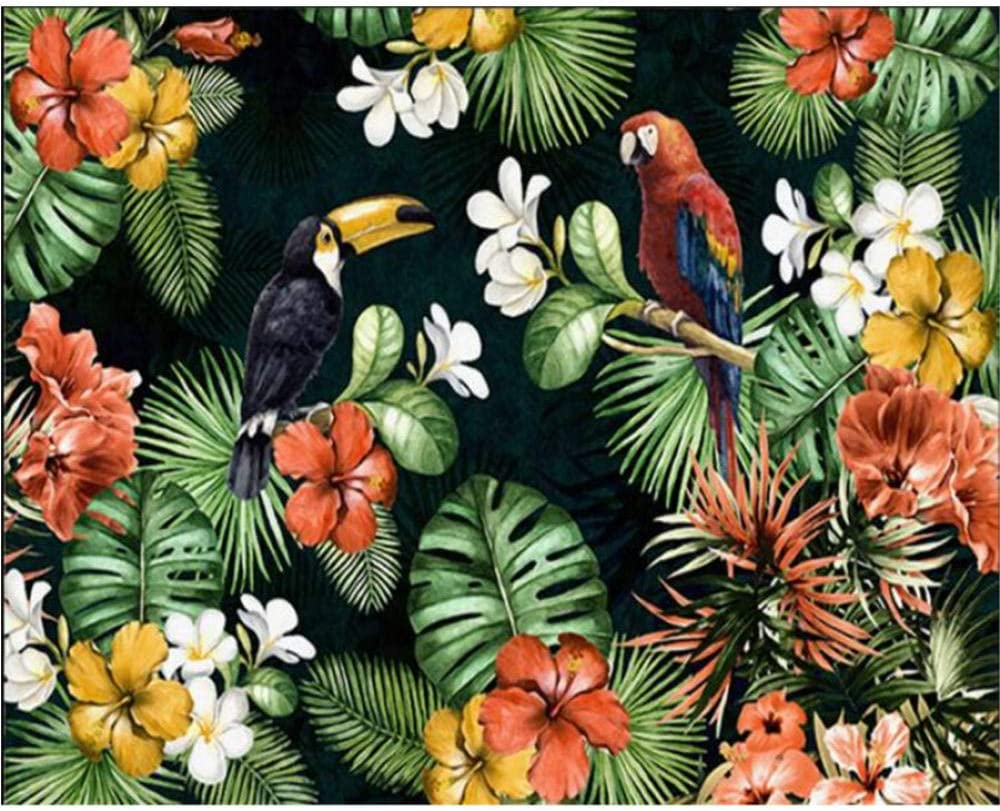 Zjxxm Photo Wallpaper Painting Parrot Discount latest mail order Tropic Rainforest Tropical