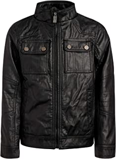 Boy's Faux Leather Officer Jacket