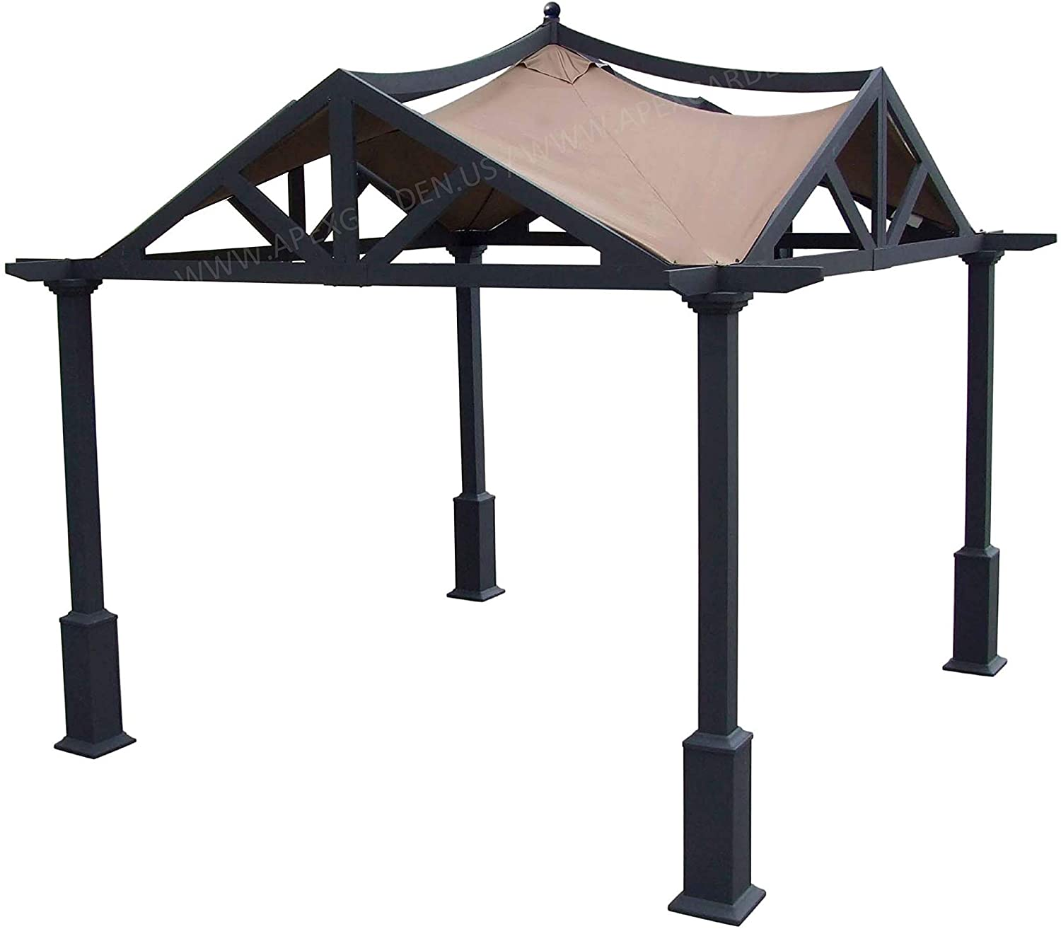 Amazon Com Apex Garden Replacement Canopy Top For Lowe S 10 Ft X Gazebo Gf 12s039b 9a037x Brown Outdoor