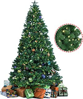 9ft flocked pre lit christmas tree