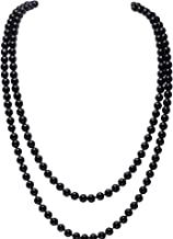 BABEYOND Art Deco Fashion Faux Pearls Necklace 1920s Flapper Beads Cluster Long Pearl Necklace for Gatsby Costume Party 59 Inches