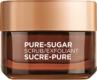 L'Oreal Paris Pure-Sugar Scrub with 3 Fine Sugars + Cocoa, Face & Lips, For Dry Skin, 50 ml