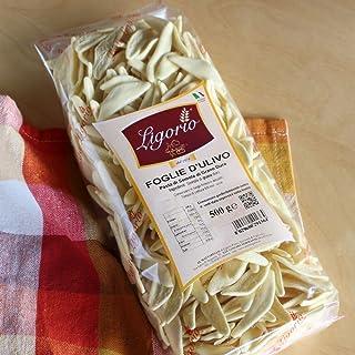 Ligorio(リゴリオ) ショートパスタ 「フォッリエ ドゥリーヴォ」絶品!イタリアのパスタ専門店のプレミアムモチモチパスタ500g(約10人前)